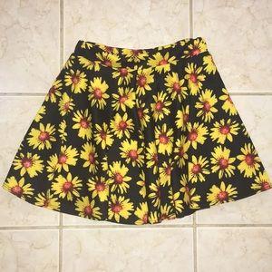 Yellow Flowered Skirt